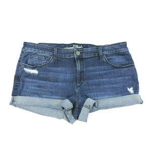 Universal Thread Blue Jean Shorts 18W Distressed